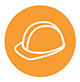 Image of hard hat signifying safety