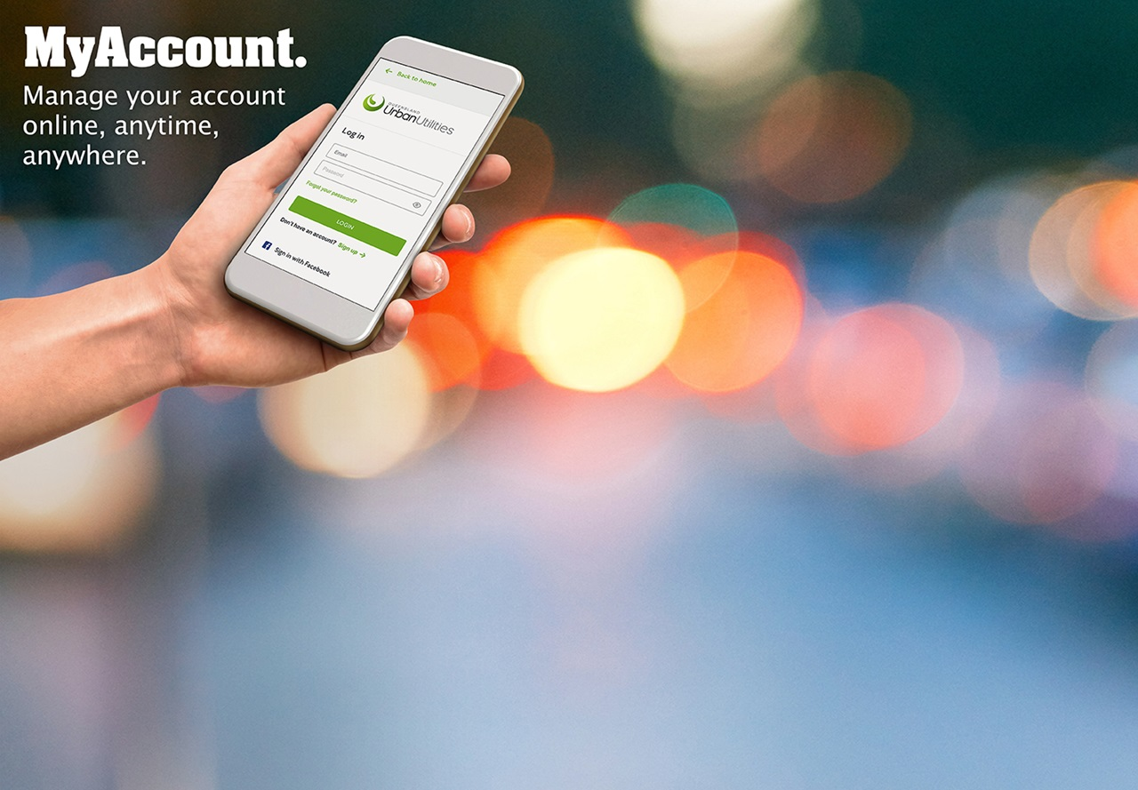 MyAccount allows you to manage your water and sewerage account online anytime anywhere