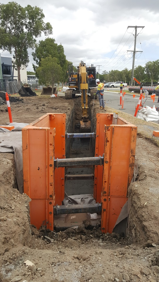 Open trenching has started on Holt Street Pinkenba