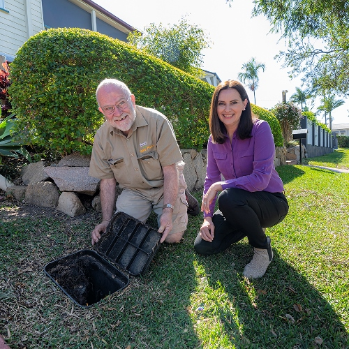 Bob the Bee Man, Michelle Cull, water meter box