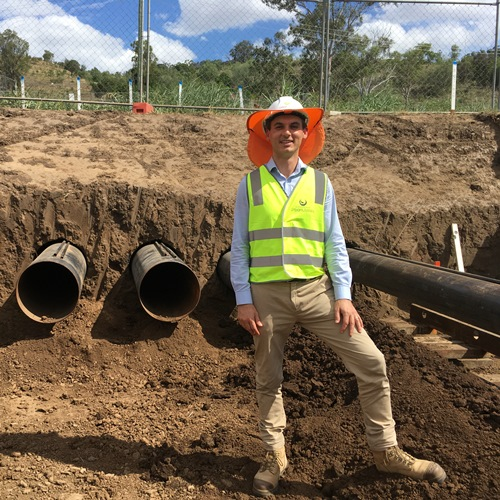 Queensland Urban Utilities Project Manager Jonathan Farrell on site at the new Lowood Sewage Treatment Plant