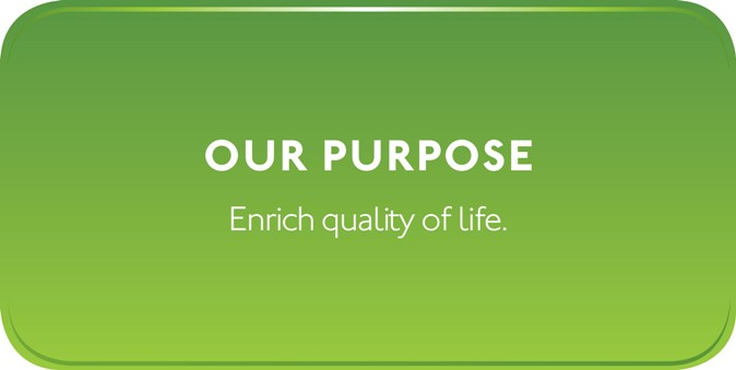 Our purpose: Enrich quality of life