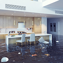 Kitchen damage caused by leaks