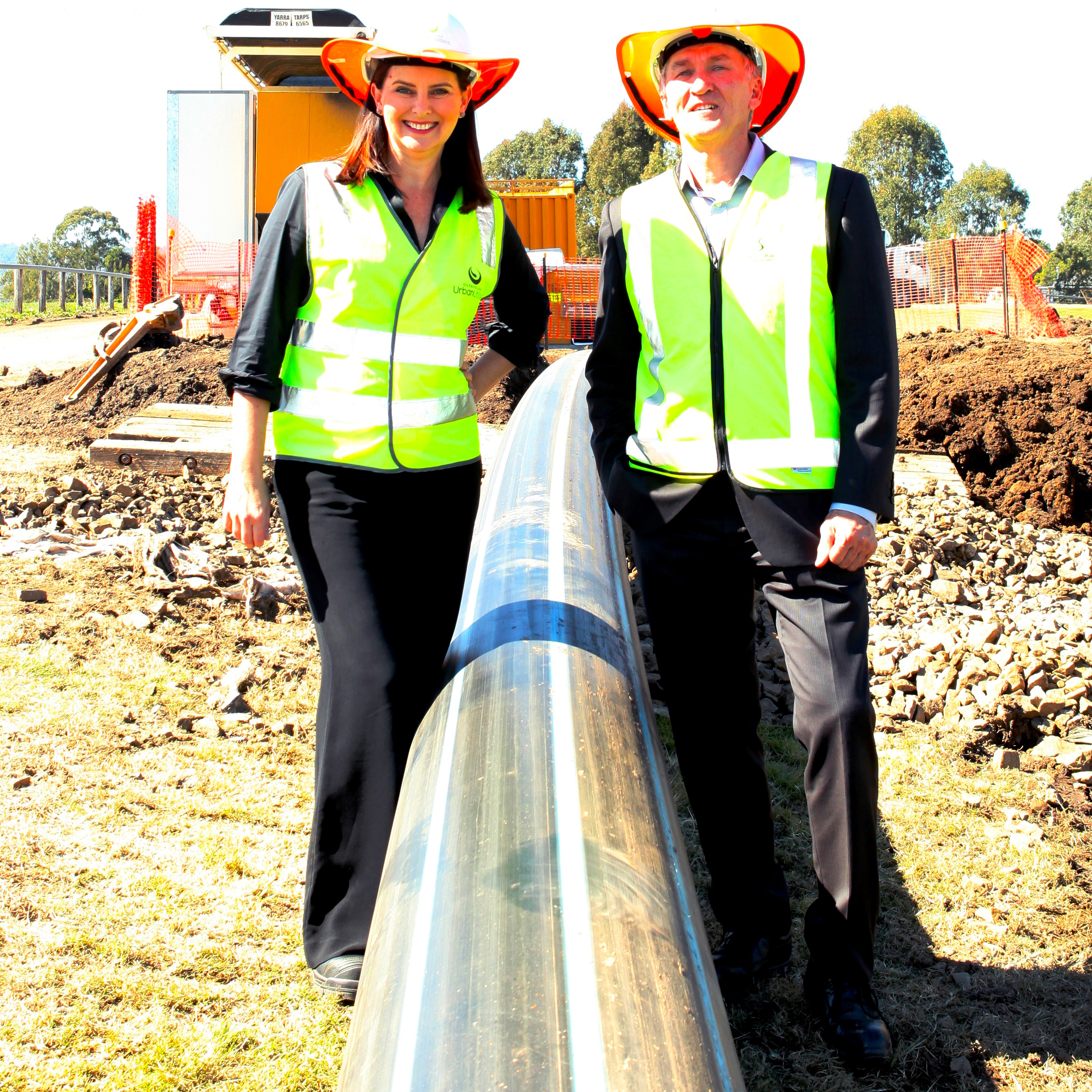 Water pipe nears completion for new 'inland freight port'
